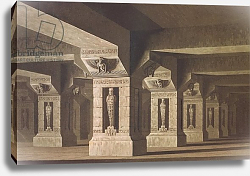Постер Шинкель Карл Set design for Act II Scene xx of 'The Magic Flute' by Wolfgang Amadeus Mozart