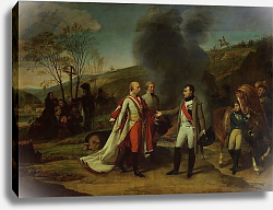 Постер Грос Барон Meeting between Napoleon I and Francis I after the Battle of Austerlitz, 4th December 1805