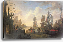 Постер Майндерхот Хенрик View of a Port in the Levant, 1670