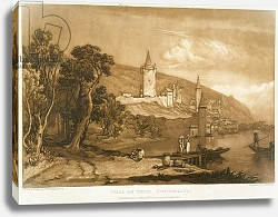 Постер Тернер Вильям (последователи) The Town of Thun, from the 'Liber Studiorum', engraved by Thomas Hodgetts, 1816