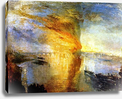Постер Тернер Уильям (William Turner) The Burning of the Houses of Parliament