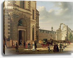 Постер Бау Этьен The Entrance to the Musee de Louvre and St. Louis Church, 1822