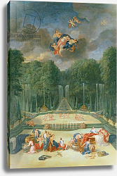 Постер Котель Джин Младший The Groves of Versailles. View of the Theatre of Water with Nymphs waiting to receive Psyche