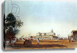 Постер Фрейзер Джеймс (акв) Lall Bazaar and the Portuguese Chapel, Calcutta, engraved by Robert Havell, pub. 1824