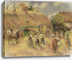Постер Писсарро Камиль (Camille Pissarro) The Harvest, 1883
