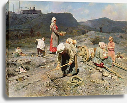 Постер Касаткин Николай Poor People Gathering Coal at an Exhausted Mine, 1894