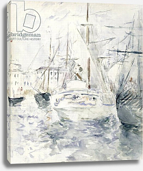 Постер Моризо Берт White Boat in the Port, Nice, 1881