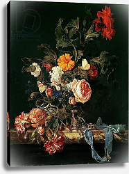 Постер Алст Виллем Still Life with Poppies and Roses
