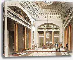 Постер Роуландсон Томас The Hall, Carlton House, from Ackermann's 'Microcosm of London'