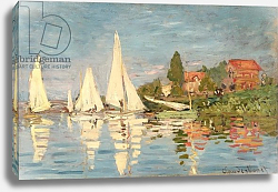 Постер Моне Клод (Claude Monet) Regatta at Argenteuil, c.1872