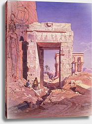 Постер Вернер Карл Doorway from Temple of Isis to temple called Bed of the Pharaohs, Island of Philaea, Egypt