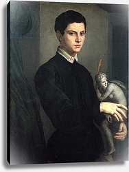 Постер Бронзино Анджело Portrait of a Sculptor, possibly Baccio Bandinelli