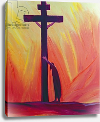 Постер Ванг Элизабет (совр) In our sufferings we can lean on the Cross by trusting in Christ's love, 1993