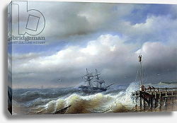Постер Клейс Поль Rough Sea in Stormy Weather, 1846