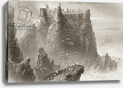 Постер Бартлет Уильям (последователи, грав) Dunluce Castle, County Antrim, Northern Ireland, from 'Scenery and Antiquities of Ireland'