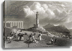 Постер Бэтти Nelson's Monument, Calton Hill, Edinburgh, from 'Select Views of the Principal Cities of Europe'
