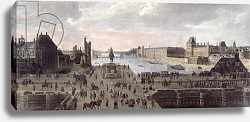 Постер Школа: Фламандская 17 в. View of the Pont-Neuf and the River Seine looking downstream, c.1633