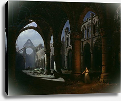 Постер Себрон Ипполит Interior of an Abbey in Ruins, 1848
