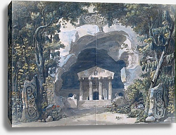 Постер Деспрес Луи Scenery Sketch for the Opera 'Frigga', 1787