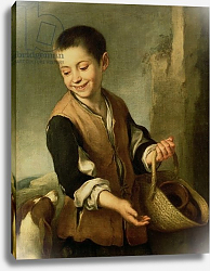 Постер Мурильо Бартоломе Boy with a Dog, c.1650