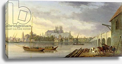 Постер Андресон Уильям A View of Westminster Bridge and the Abbey from the South Side, 1818