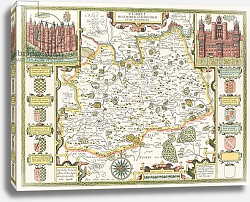 Постер Спид Джон Map of Surrey, 1611-12