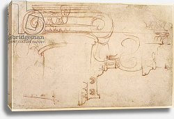 Постер Микеланджело (Michelangelo Buonarroti) Study of an Ionic capital