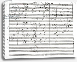 Постер Бетховен Людвиг Score for the 3rd Movement of the 5th Symphony
