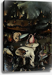 Постер Босх Иероним The Garden of Earthly Delights, Hell, right wing of triptych, c.1500