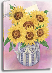 Постер Бентон Линда (совр) Sunflowers, 1998