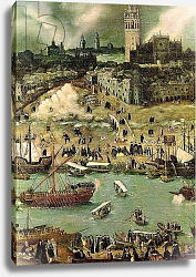 Постер Санчес Коэльо Алонсо The Port of Seville, c.1590