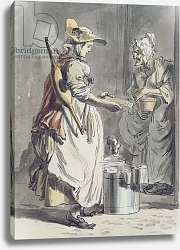 Постер Сэндби Поль London Cries: A Milkmaid, c.1759