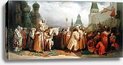 Постер Шварц Вячелав Palm Sunday Procession under the Reign of Tsar Alexis Romanov 1868
