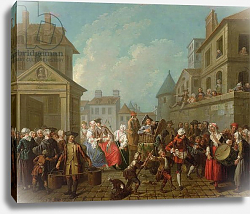 Постер Джюра Этьен Street Carnival in Paris, 1757