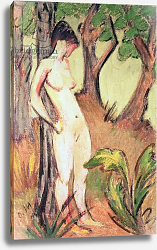 Постер Мюллер Отто Nude Standing Against a Tree