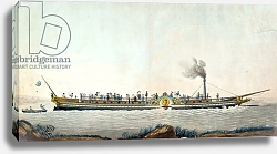 Постер Дебюкур Филибер The Charles-Philippe, the first steamboat launched on the Seine, 20th August 1816