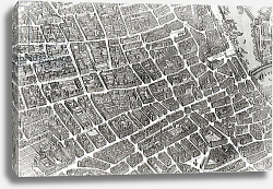 Постер Бретез Луи (карты) Plan of Paris, known as the 'Plan de Turgot', engraved by Claude Lucas, 1734-39 2