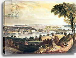 Постер Кук Джордж The City of Washington from beyond the Navy Yard, engraved by William James Bennett, c.1824
