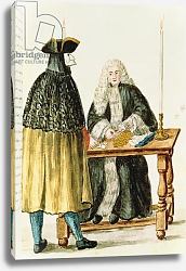 Постер Гревенброк Ян A Magistrate Playing Cards with a Masked Man
