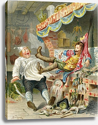 Постер Бишар Альфонс Flight with ducks down a chimney, c.1886