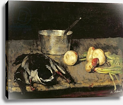 Постер Шух Карл Still life with casserole and wild duck, 1885