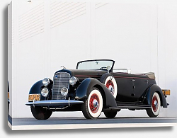 Постер Lincoln K Dual Windshield Convertible Sedan by LeBaron '1936