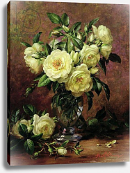 Постер Уильямс Альберт (совр) White Roses, A Gift from the Heart