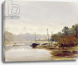 Постер Данби Франсис Boat Building near Dinan, Brittany, c.1838