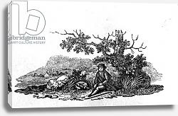 Постер Бевик Томас Man Seated by a Stunted Tree from 'History of British Birds and Quadrupeds'