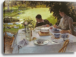 Постер Ниттис Джузеппе Breakfast in the Garden, 1883