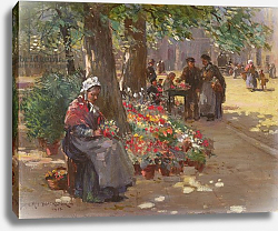 Постер Блэклок Уильям The Flower Seller, 1912