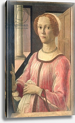 Постер Боттичелли Сандро (Sandro Botticelli) Smeralda Bandinelli, grandmother of the sculptor Baccio Bandinelli, c.1471