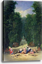Постер Котель Джин Младший The Groves of Versailles: View of the Maze with Diana and her Nymphs, 1688
