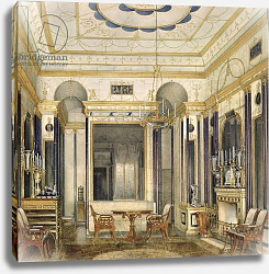 Постер Гау Эдуард The Drawing Room of the Empress Maria Alexandrovna in the Great Palais in Tsarskoye Selo